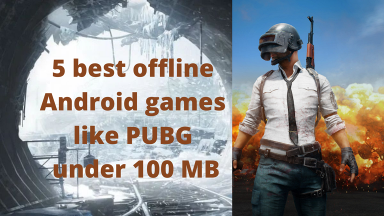 3 best offline Android games like PUBG under 100 MB