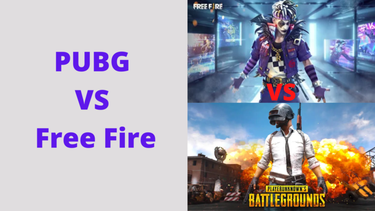 PUBG vs Free Fire: Key point of comparison between PUBG and Free Fire