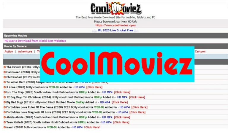 Coolmoviez 2021: Free Bollywood, Hollywood Dubbed Movies Download Website